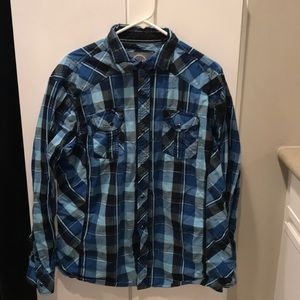 Men's BKE plaid button up